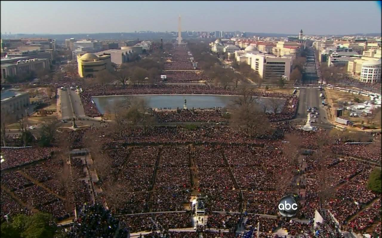 Inauguration Day crowd.