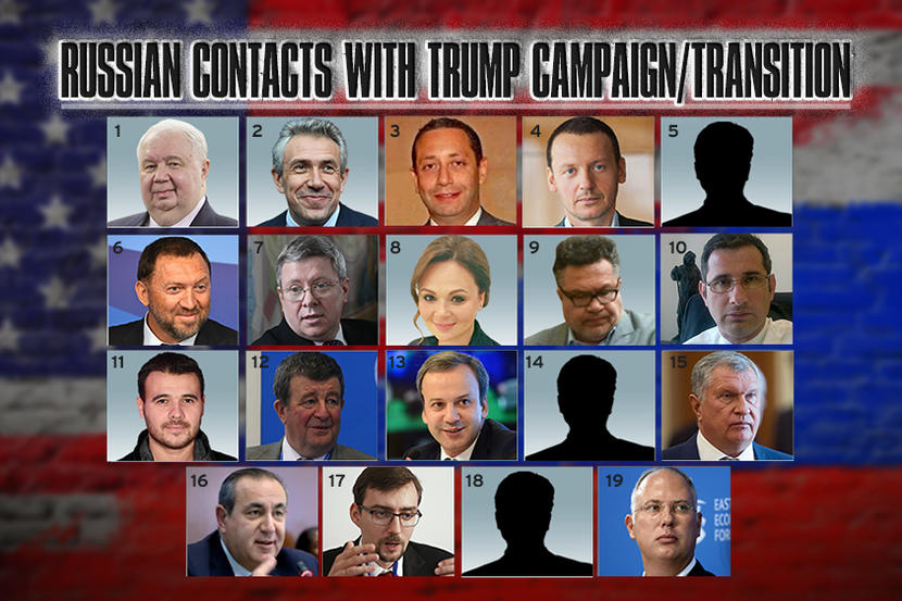 Russians linked to Trump