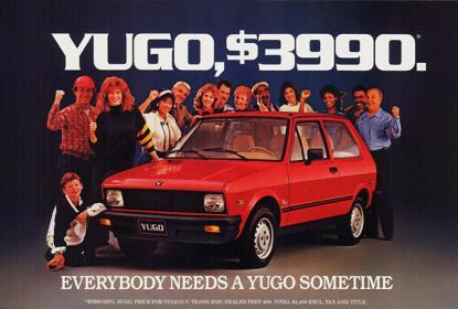1987 Yugo ad