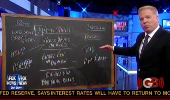 Beck's chalkboard
