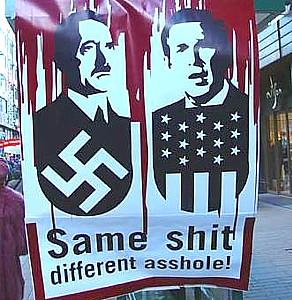 Bush Hitler Same Shit