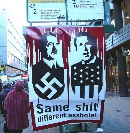 Wide-Bush Hitler Same Shit