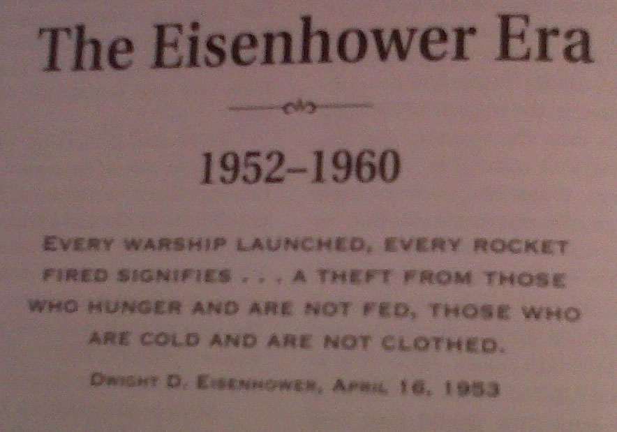 Plaque at Eisenhower Library