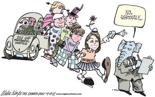 GOP Candidate Clown Car