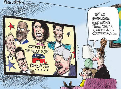 GOP debates are just ads for Obama