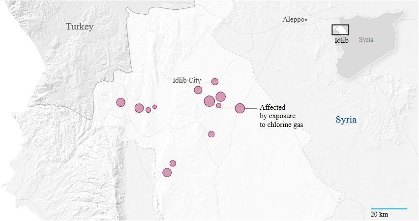 WMD affected areas, Idlib Syria