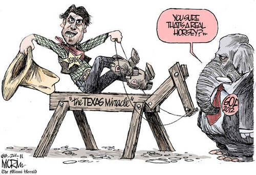 Perry's imaginary 'miracle'