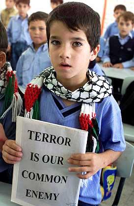 Palestinian schoolchild