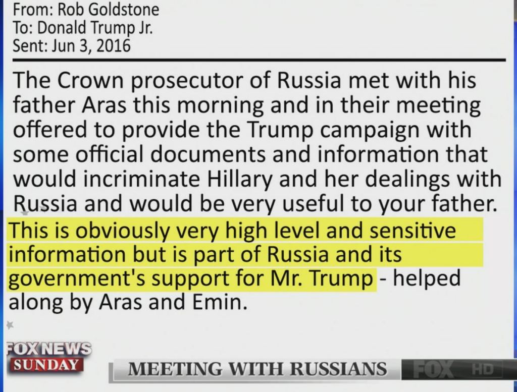 Goldstone Email to Don Jr.