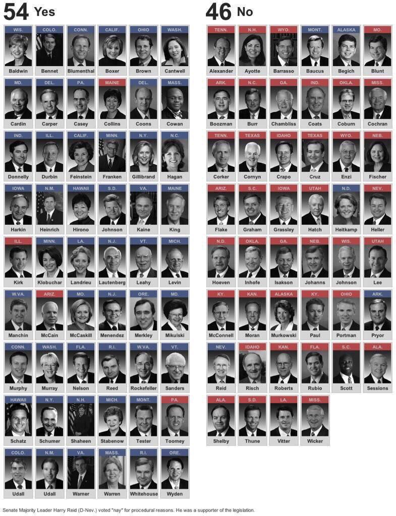 46 voted to do nothing after Sandy Hook