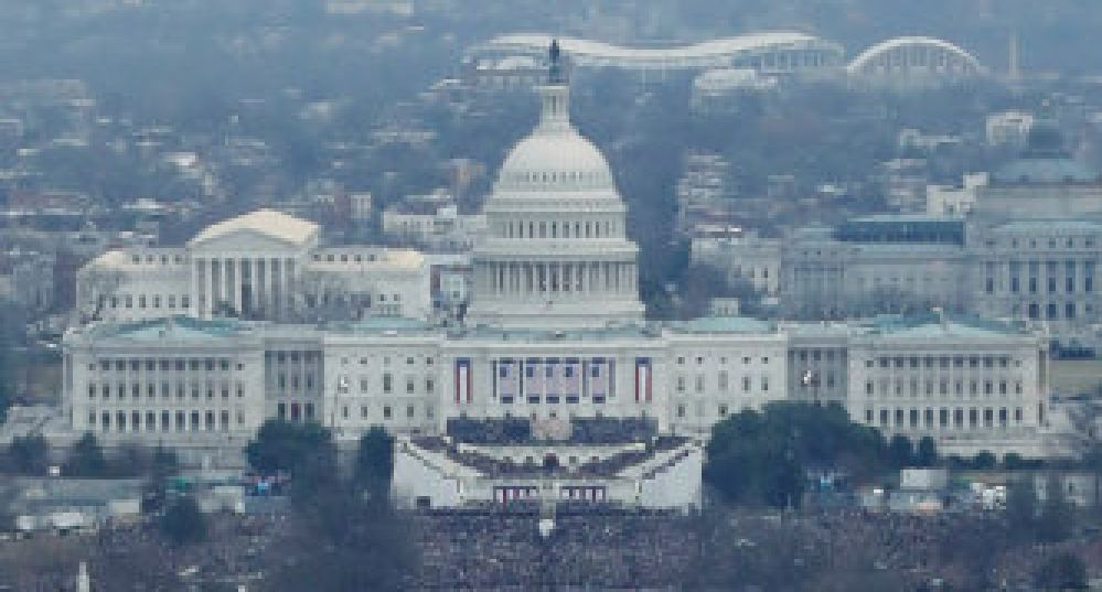 Capitol Building during inauguration