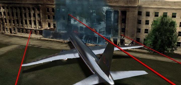 Plane Pentagon overlay