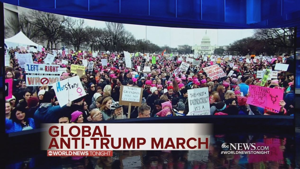 Global protest supporting women's rights