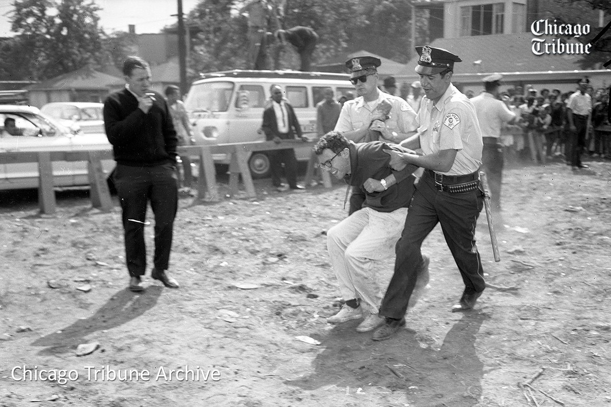Sanders arrested during civil rights protest 1960
