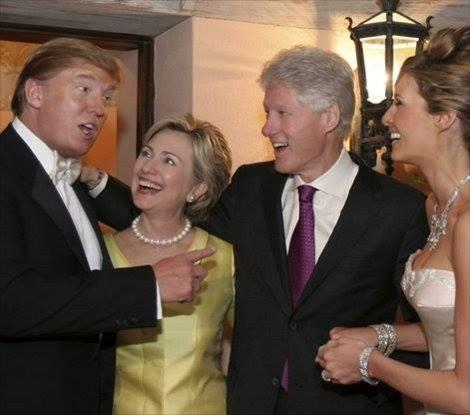 Trump's party with Clinton's