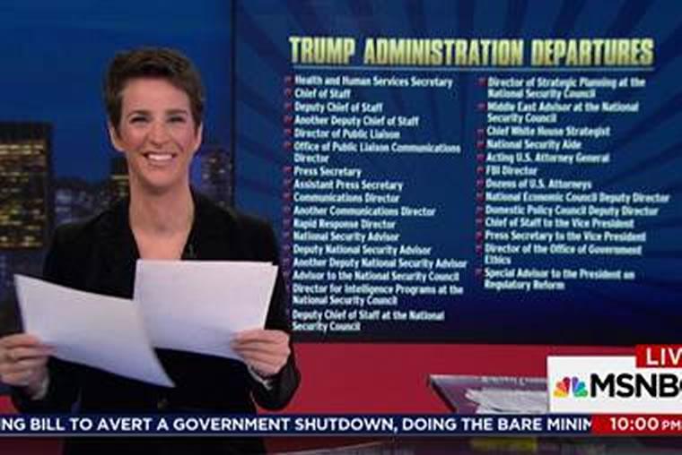 Trump Admin 2017 Departures