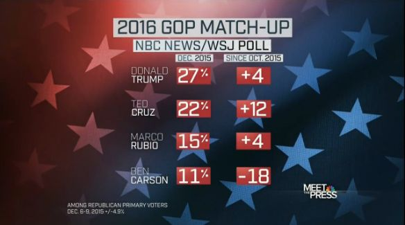 Trump/Cruz hold 49% of GOP