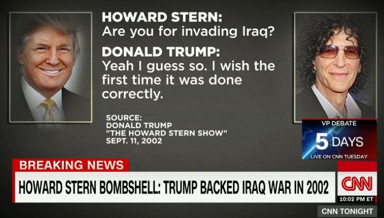 Trump on Iraq 2002