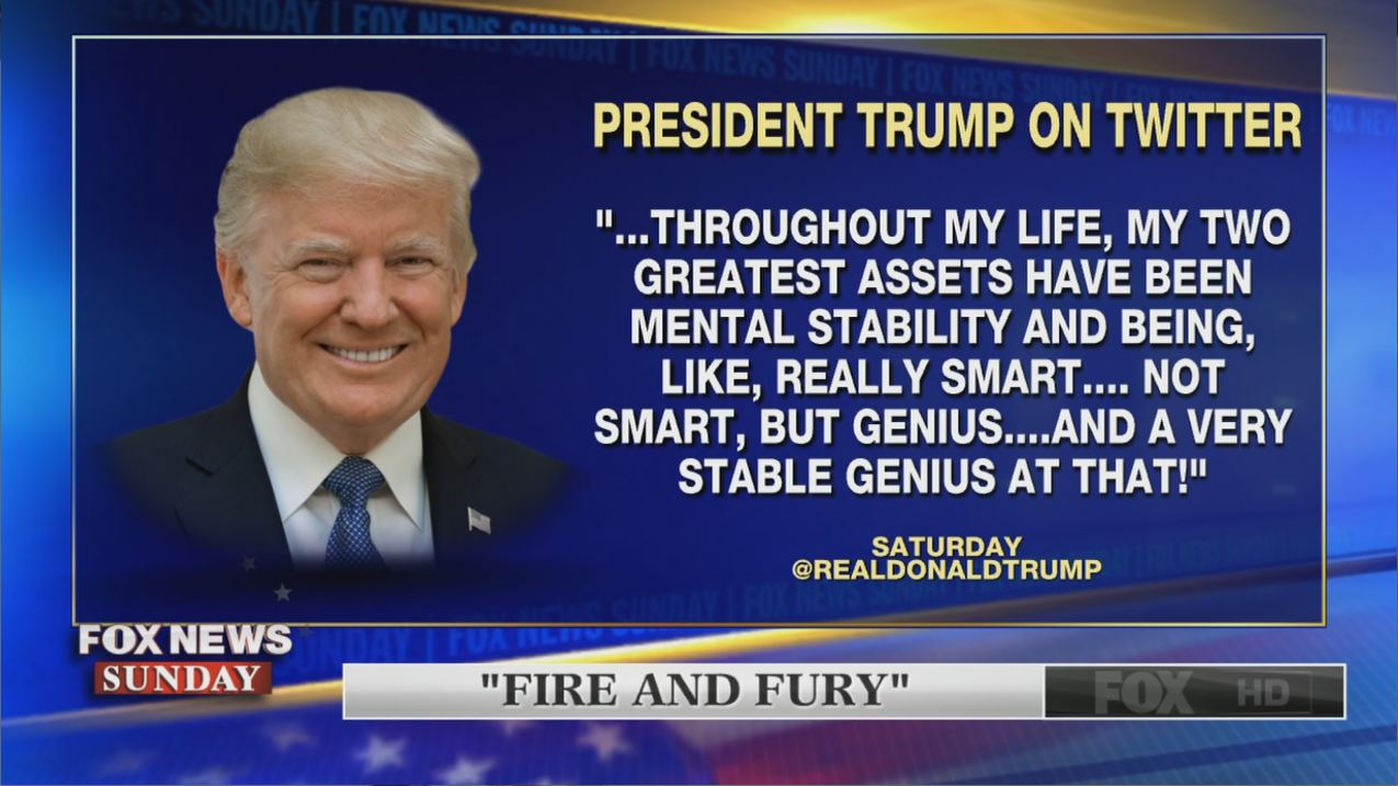 Trump calls himself a genius